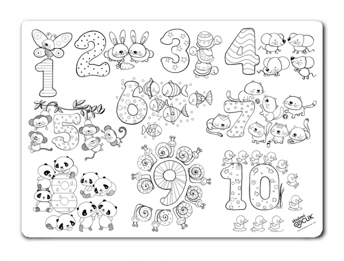 Pachet plansa desen reutilizabila - cifre si numere si Carioca Joy. 2