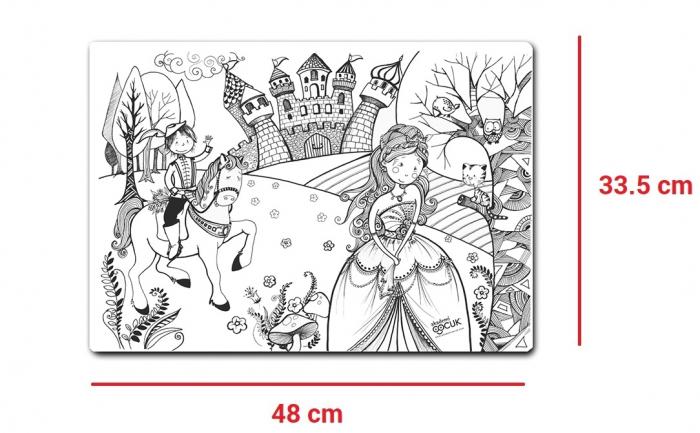 Promo Plansa desen de colorat reutilizabila - printul si printesa, Carioca. 7