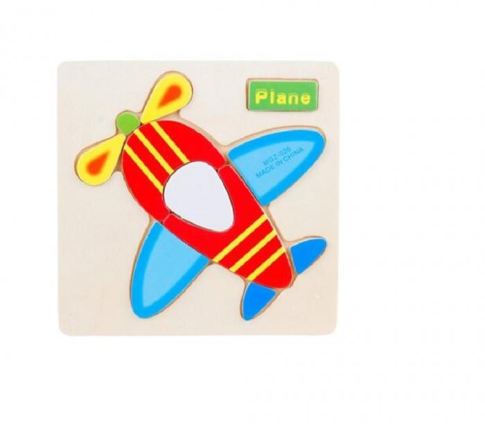 Puzzle incastru din lemn Avion 0