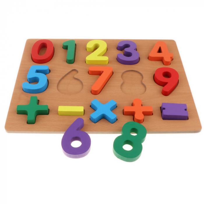 Puzzle incastru din lemn, 3D cu cifre de la 0 la 9 si matematica. 4