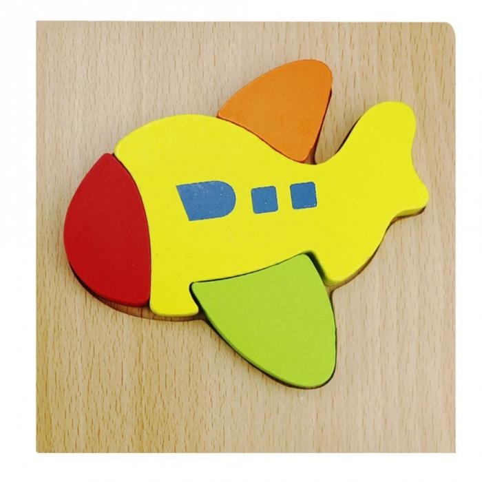 Puzzle Lemn 3D Avion 1