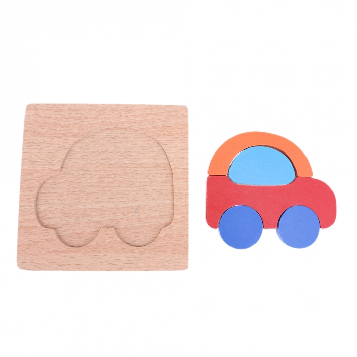 Puzzle Lemn 3D Masina 2