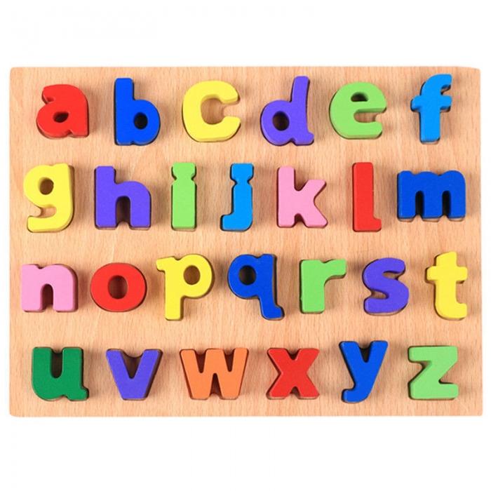 Puzzle din lemn Alfabet - Litere mici, invata alfabetul. 3