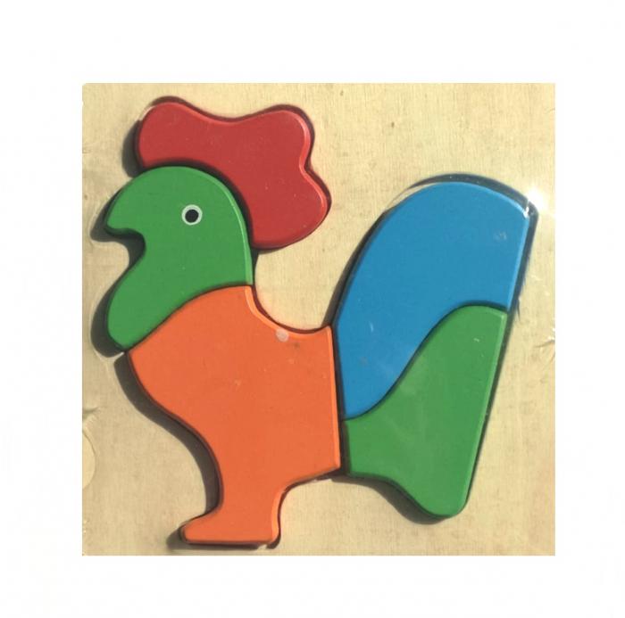 Jucarie din lemn Montessori Puzzle in format 3D Cocos.