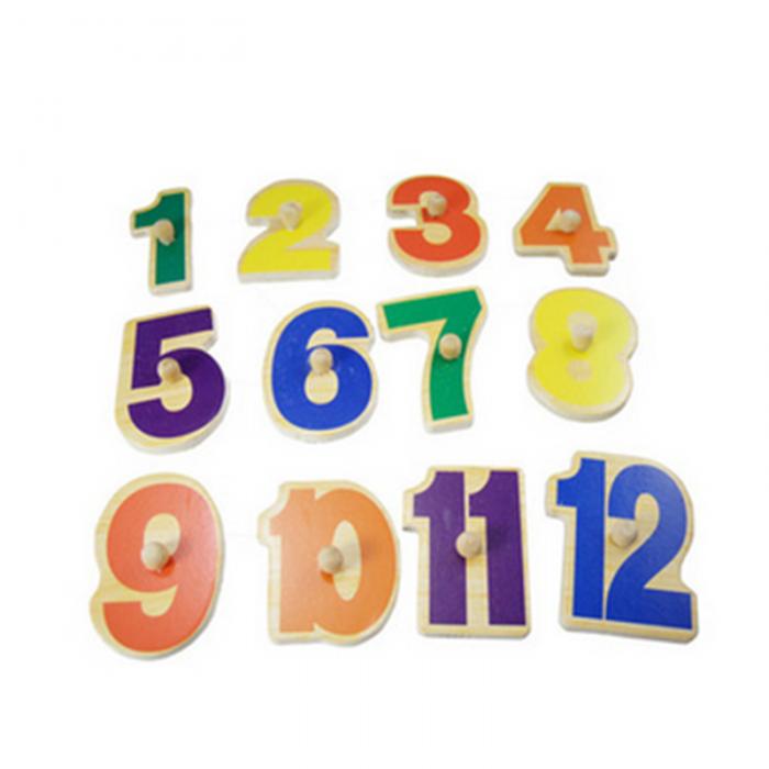 Puzzle lemn incastru ceas clovn jucarie educativa.