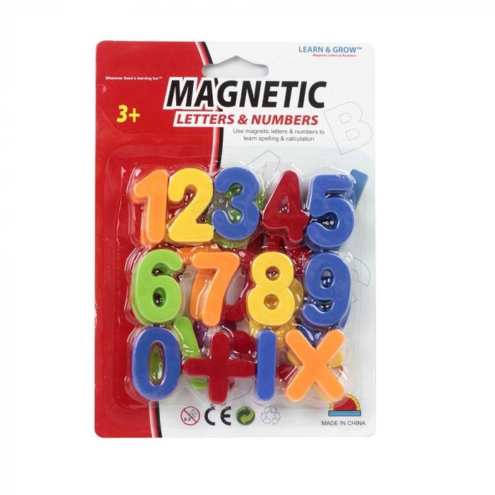 Set cifre magnetice din plastic colorate pentru copii. 3