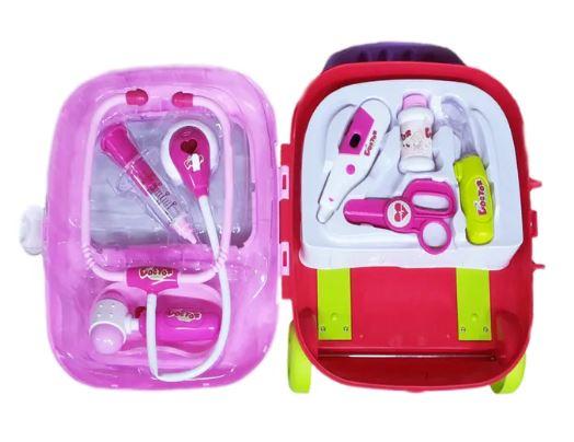 Jucarie trusa doctor cu instrumente medicale pentru copii, troller. 7