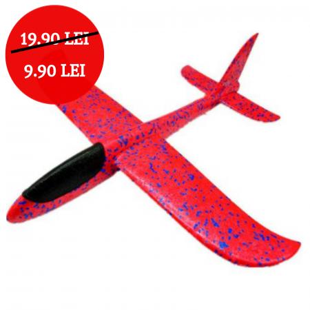Avion planor din polistiren , Albastru/Rosu/Verde/Roz/Portocaliu0