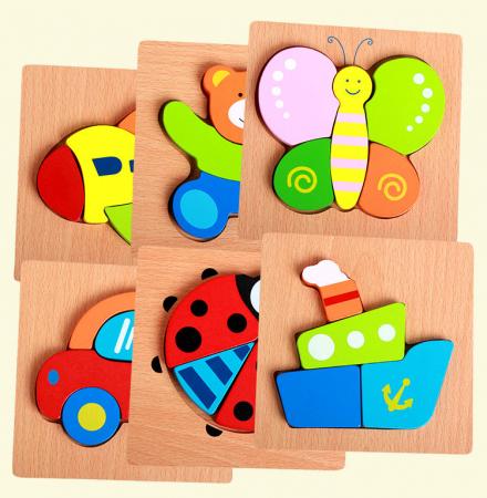 Joc puzzle lemn - Vaporas