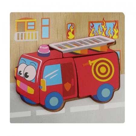 Joc puzzle lemn - Masina pompieri