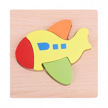 Puzzle Lemn 3D Avion0