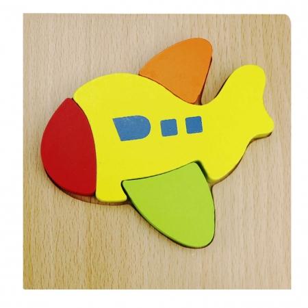 Puzzle Lemn 3D Avion1