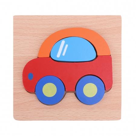Puzzle Lemn 3D Masina0
