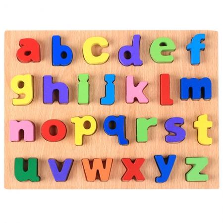 Puzzle lemn litere mici colorate de la A la Z.3