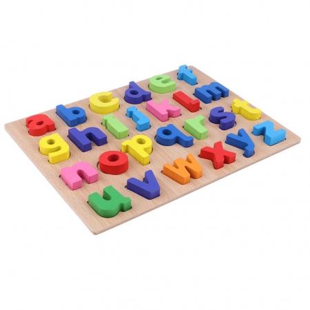 Puzzle lemn litere mici colorate de la A la Z.4