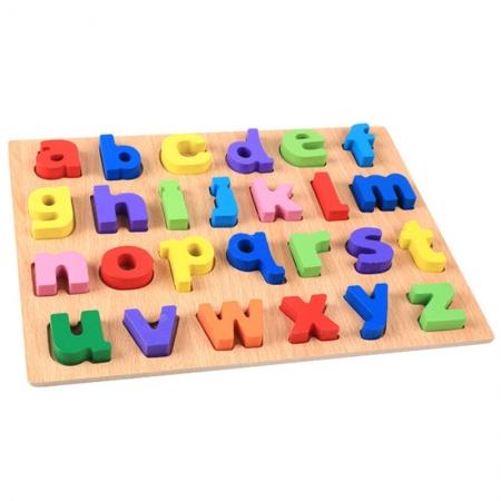 Puzzle lemn litere mici colorate de la A la Z.5