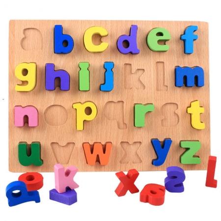 Puzzle lemn litere mici colorate de la A la Z.7