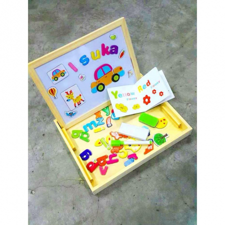 Tablita educativa cu puzzle magnetic 3 in 1 - puzzle magnetic