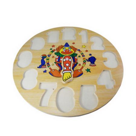 Puzzle din lemn - Ceas Clovn2