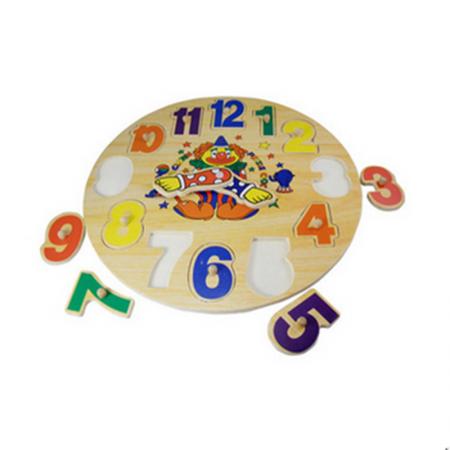 Puzzle din lemn - Ceas Clovn1