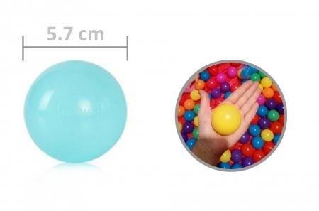 Sac 100 bile multicolore pentru copii4