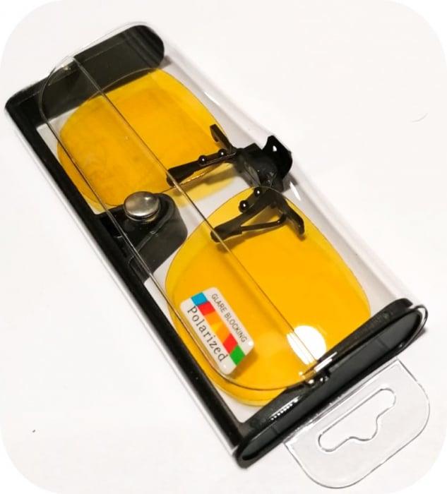 Lentile polarizate tip Clip On, de culoare galbena 1