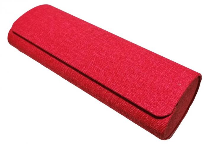Toc ochelarii de vedere roșu, suprafață acoperita cu material textil [0]
