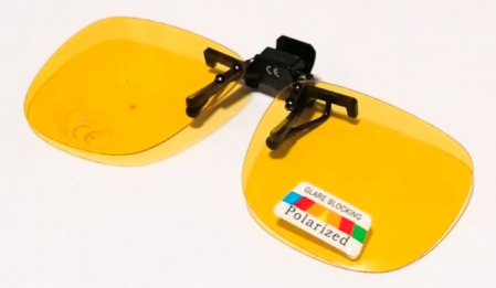 Lentile polarizate tip Clip On, de culoare galbena0