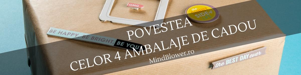 Povestea celor 4 ambalaje de cadou de la Mindblower.ro