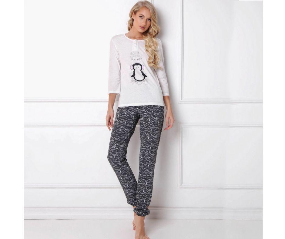 Pijamale-dama-Peggy-Arctic-2-piese-pantaloni-lungi