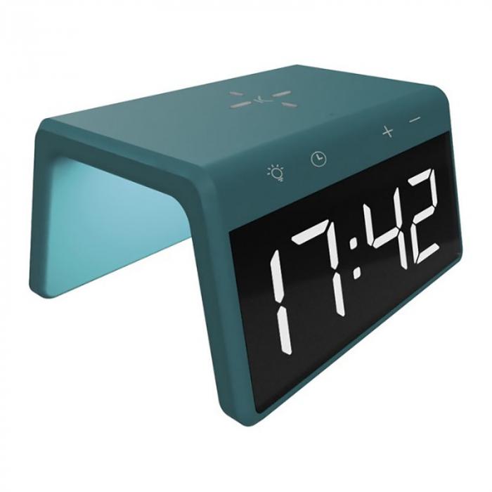 Ceas desteptator cu incarcator wireless smartphone AlarmOn 1