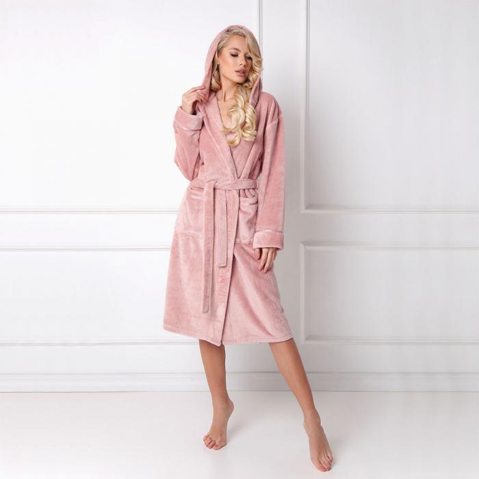 Halat de baie dama, Adeline dusty pink 0
