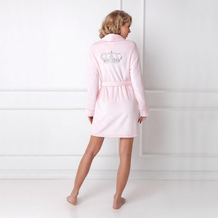 Halat de baie dama Elly roz 1