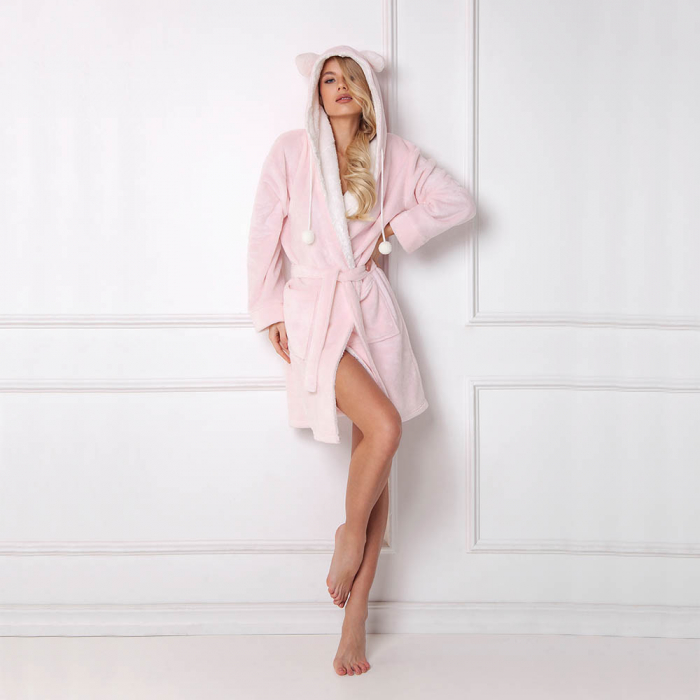 Halat de baie dama Penny roz 0