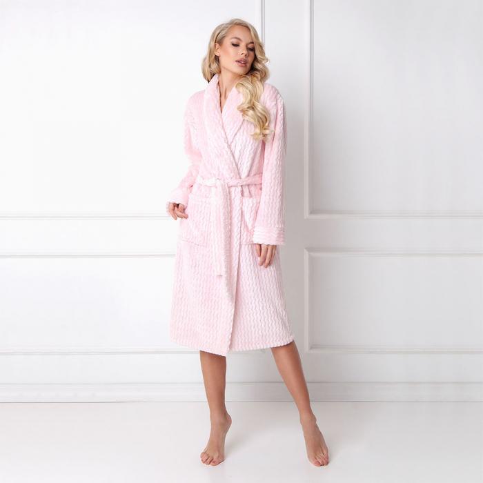 Halat de baie dama Pinksy roz 0
