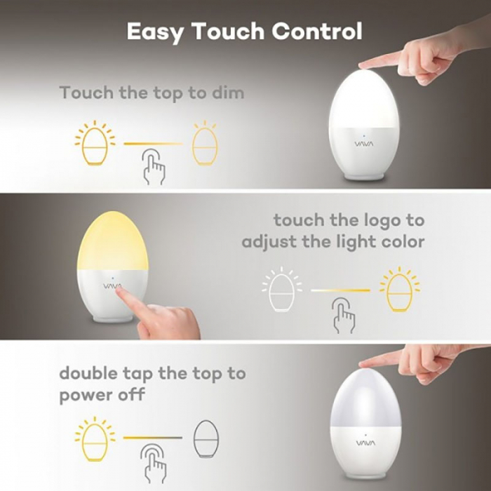 Lampa de veghe VAVA LED 3