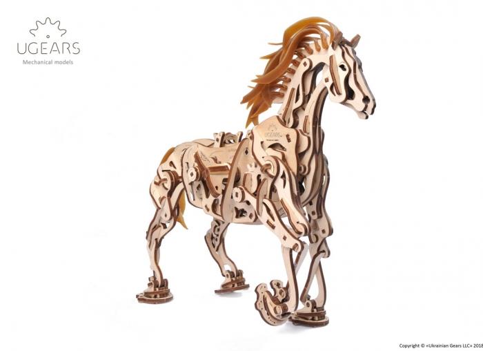 Puzzle 3D Cal Bionic din lemn Ugears [9]