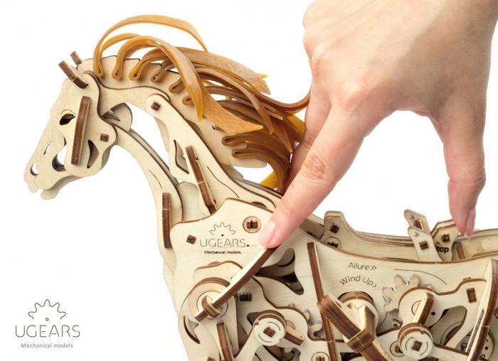 Puzzle 3D Cal Bionic din lemn Ugears [13]