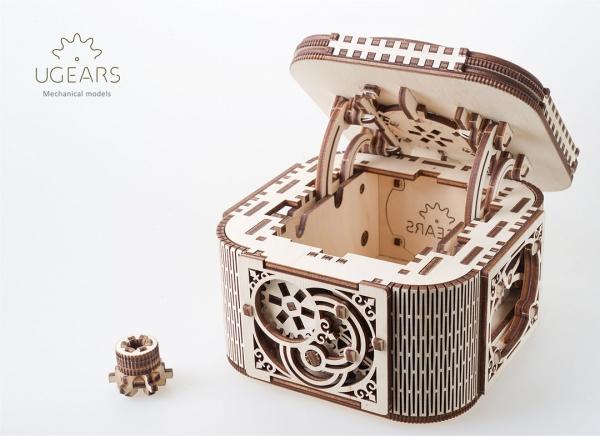 Puzzle 3D Cufar Comori - Model Mecanic din Lemn Ugears 11