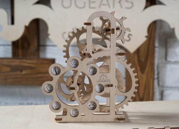 Puzzle 3D Dinamometru din Lemn Ugears 3