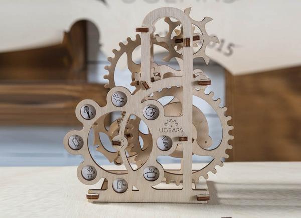 Puzzle 3D Dinamometru din Lemn Ugears 4