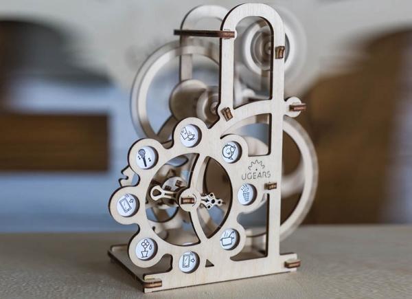 Puzzle 3D Dinamometru din Lemn Ugears 2
