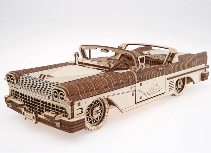 Puzzle 3D Dream Cabriolet VM-05 din lemn Ugears 13
