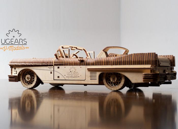 Puzzle 3D Dream Cabriolet VM-05 din lemn Ugears 3