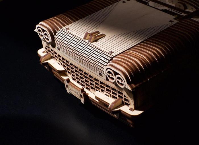 Puzzle 3D Dream Cabriolet VM-05 din lemn Ugears 4