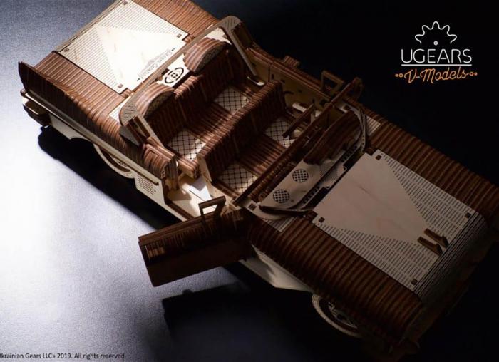 Puzzle 3D Dream Cabriolet VM-05 din lemn Ugears 7