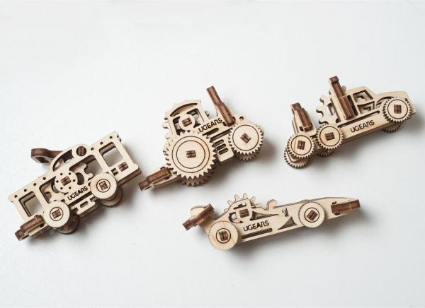 Puzzle 3D Fidget Vehicule din Lemn Ugears 2
