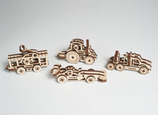 Puzzle 3D Fidget Vehicule din Lemn Ugears 4