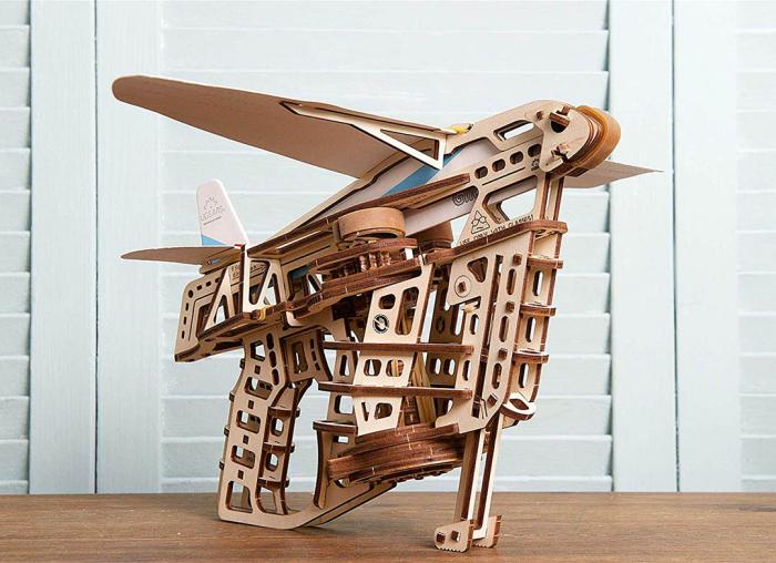 Puzzle 3D Flight Starter din lemn Ugears 5