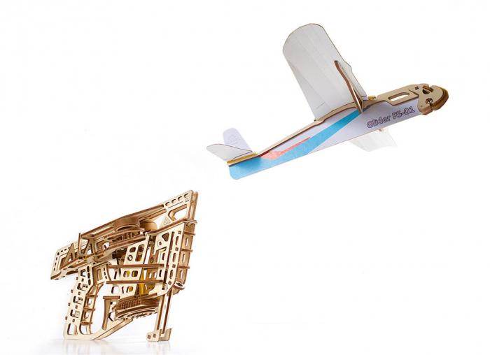 Puzzle 3D Flight Starter din lemn Ugears 17